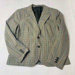 Chadwicks Womens Jacket Size 18 Blazer Plaid Full